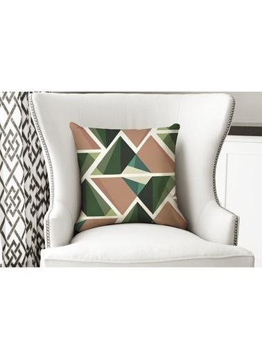 Lyn Home & Decor Yastık Kılıfı Turuncu Yeşil Geometrik Renkli